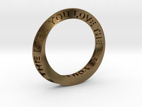 Live The Life You Love - Mobius Ring in Natural Bronze