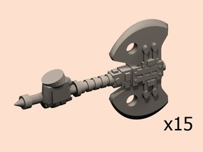 28mm Ictus powered axes armoured hand in Smoothest Fine Detail Plastic