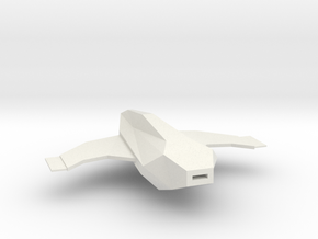 1/1000 Serpens Cruiser Main Body (part #2 for kit) in White Natural Versatile Plastic