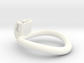 Cherry Keeper Ring - 44x48mm Tall Oval -3° ~46mm in White Processed Versatile Plastic