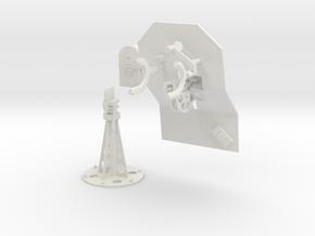 1/16 Cal 50 Pedestal mount M39 in White Natural Versatile Plastic