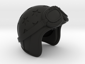 Easy Rider Skull (Helmet Only) Ring Box in Black Natural Versatile Plastic