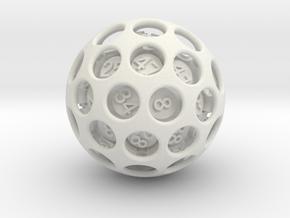 Cavernous D50 in White Natural Versatile Plastic