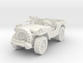 Airborne Jeep (recon) 1/100 in White Natural Versatile Plastic