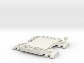1/400 Scale Crawler Transporter in White Natural Versatile Plastic