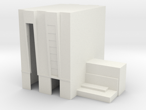 1/1000 Scale Vehicle Assembly Building in White Natural Versatile Plastic