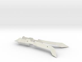 1/1000 Eta Lyrae Light Cruiser Nacelle Set Of Two  in White Natural Versatile Plastic