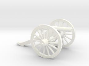 1/35 scale M1857 model 12 pounder gun test in White Processed Versatile Plastic