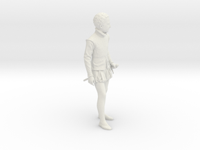 Antique Boy Decorative in White Natural Versatile Plastic
