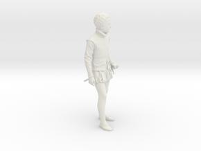 Antique Boy Decorative in White Natural Versatile Plastic