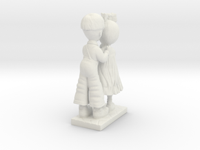 boy and girl figurine  in White Natural Versatile Plastic