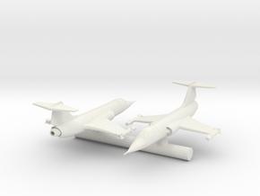 "Lockheed F104  Starfighter 1.4"" long in White Natural Versatile Plastic"