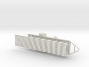 1/64th Drill Rig Rod Trailer in White Natural Versatile Plastic