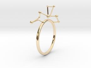 geometric minimalist star constellation ring in 14K Yellow Gold: 5 / 49