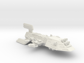 3788 Scale Kzinti Super Space Control Ship SRZ in White Natural Versatile Plastic