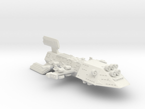 3125 Scale Kzinti Super Space Control Ship SRZ in White Natural Versatile Plastic