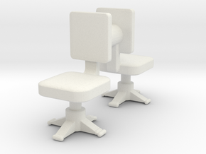 Office chair (x2) 1/56 in White Natural Versatile Plastic