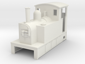 OO9 Cheap and Easy Tram Loco #1 in White Natural Versatile Plastic