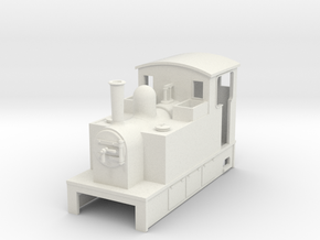 OO9 Cheap and Easy Tram Loco #1a in White Natural Versatile Plastic