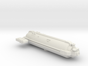 Omni Scale General Small Q-Ship (Revealed) SRZ in White Natural Versatile Plastic