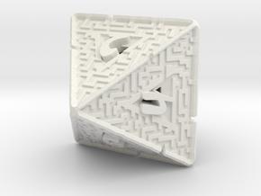 8 Sided Maze Die V2 in White Natural Versatile Plastic