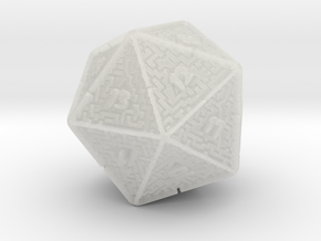 20 Sided Maze Die V2 in Smooth Fine Detail Plastic