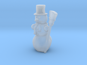 HO Scale Snowman in Smooth Fine Detail Plastic
