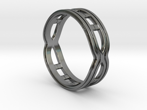 Women's (Helix) Band Ring in Polished Silver