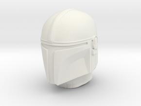 bounty hunter helmet in 1/6 scale in White Natural Versatile Plastic