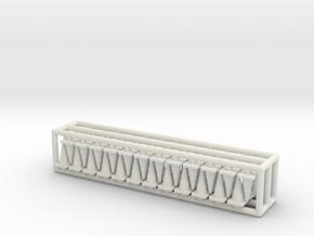 Traffic Cones 01. HO Scale (1:87) in White Natural Versatile Plastic