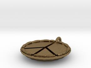 Make Pie Not War in Natural Bronze
