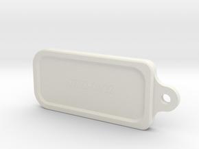 Leo key ring in White Natural Versatile Plastic