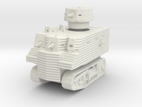 Bob Semple Tank 1/72 in White Natural Versatile Plastic