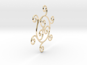 Triskelion in 14k Gold Plated Brass