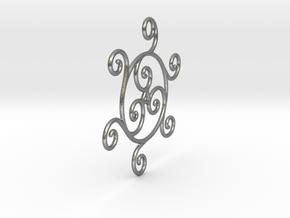 Triskelion in Natural Silver