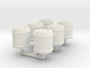 Konami Eagle - Nuclear Waste Canisters (6x sprue) in White Natural Versatile Plastic