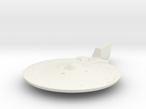 Federation Abbe class Upper Hull 1/1000 scale part in White Natural Versatile Plastic