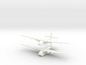 Me-323E2/WT German Gun Ship- Global War - (Qty. 2) in White Processed Versatile Plastic