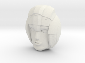 Arcee Face, 4cm Version in White Natural Versatile Plastic