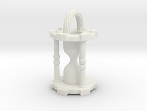 HourglassPendantSmaller in White Natural Versatile Plastic