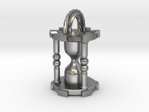 HourglassPendant in Natural Silver
