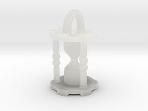 HourglassPendant in Smooth Fine Detail Plastic
