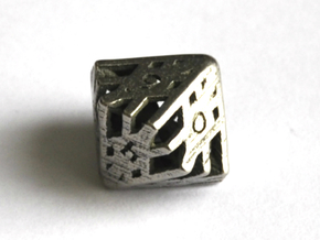 D10 Balanced - Snow in Polished Bronzed-Silver Steel