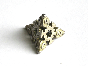 D4 Balanced - Snow in Polished Bronzed-Silver Steel