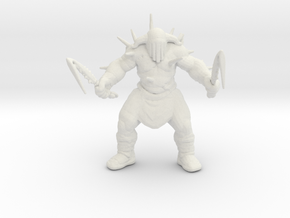 Hades god of war 55mm DnD miniature games rpg in White Natural Versatile Plastic