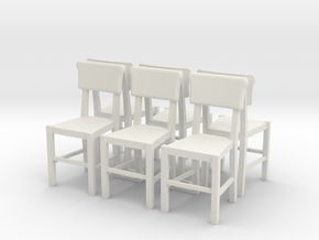 Set of Chairs in White Natural Versatile Plastic