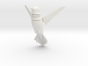 Wiggling Hummingbird in White Natural Versatile Plastic