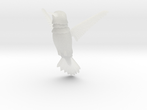 Wiggling Hummingbird in Smooth Fine Detail Plastic
