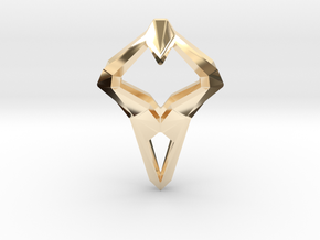 HEART TO HEART Sharpy, Pendant. Sharp Elegance in 14K Yellow Gold