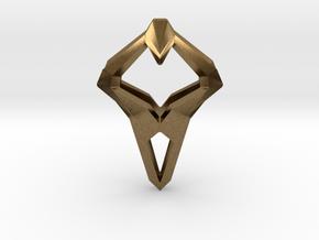 HEART TO HEART Sharpy, Pendant. Sharp Elegance in Natural Bronze
